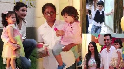 Taimur Ali Khan & Inaaya enjoys Esha Deol's daughter Radhya's birthday party   Boldsky
