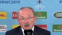Rugby - 2019 World Cup - Jacques Brunel Press Conference After France lost Against Wales 19-20