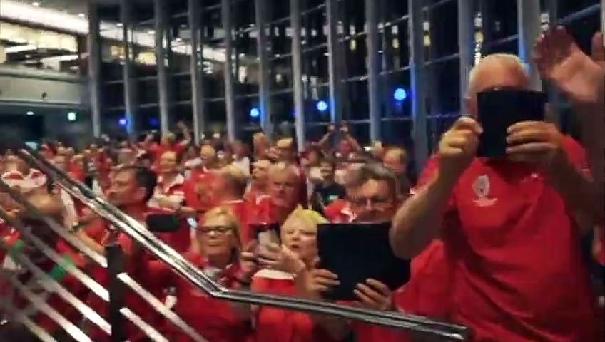 Rugby – 2019 World Cup – Welsh Fans Celebrating The Win Against France