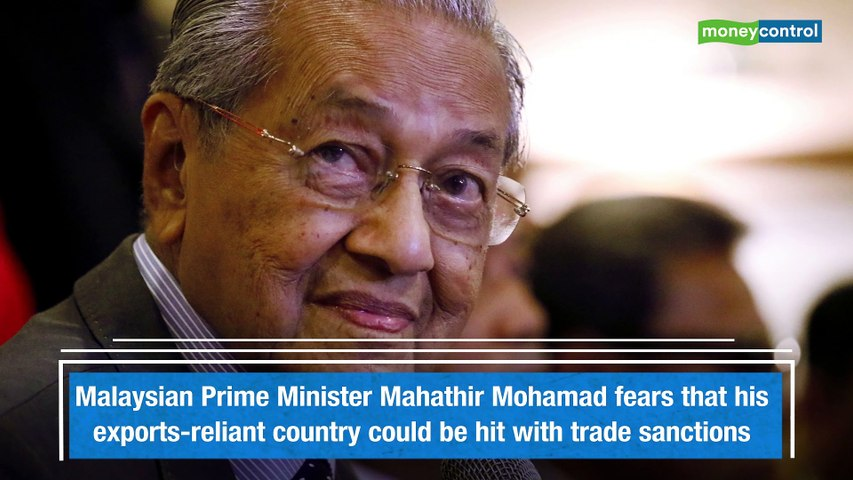 Mahathir Mohamad warns of possible trade sanctions on Malaysia