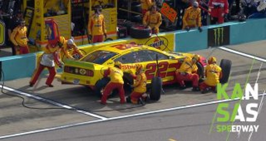 Loose wheel forces Logano to pit, go two laps down