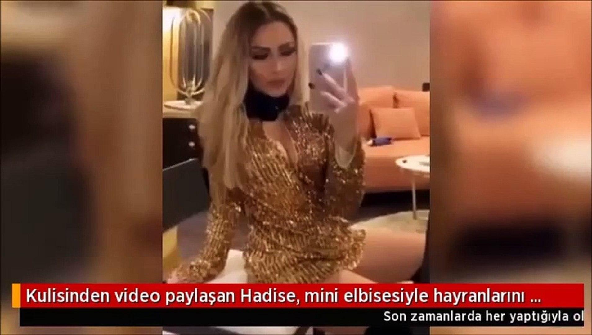 Kulisinden video paylaşan Hadise, dekoltesiyle yürek hoplattı
