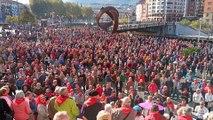 Pensionistas vizcaínos destacan el apoyo en su marcha a Madrid