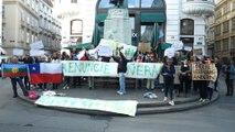 Demo gegen chilenische Regierung vor Botschaft in Wien