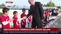Cumhurbaşkanı Erdoğan öğrencileri ağırladı
