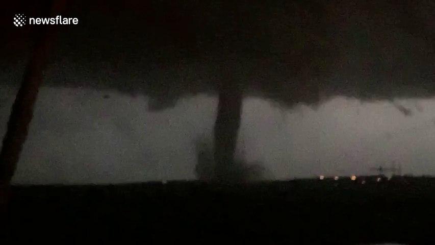 Terrifying moment tornado rips through Dallas area