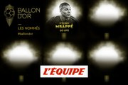 De Mbappé à Ter Stegen, les nommés de 6 à 10 - Foot - Ballon d'Or France Football 2019