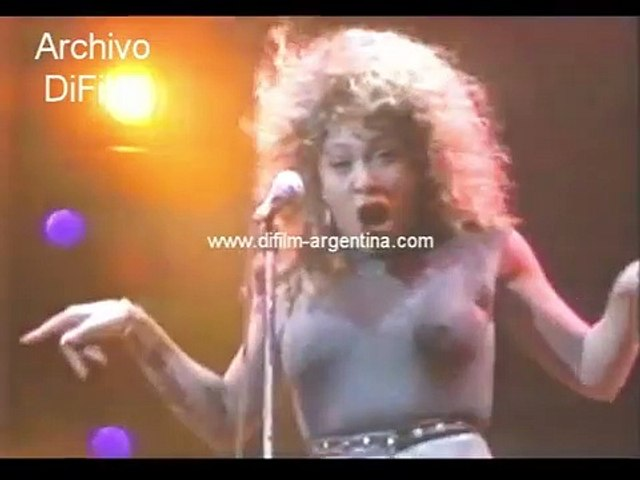 Tina Turner in musical show in the city of Madrid - Spain 1990