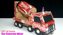 How to make a Concrete Mix Truck from Coca Cola - Truck (Remote Control) Amazing of Coca Cola!