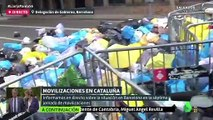 Así blanquea Cristina Pardo a los violentos separatistas: «Vemos que lanzan basura a la Policía de manera pacífica»