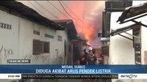 Kebakaran Puluhan Rumah di Medan Diduga Akibat Korsleting Listrik