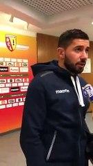 La réaction de Mickaël Le Bihan apres Lens-Auxerre