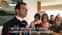"""""""Metni okuyunca Türkiye Cumhuriyeti adına üzüldüm"""""""