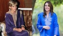 تشابه لوكات كيت ميدلتون والأميرة ديانا خلال جولة باكستان
