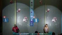 Record du Monde féminin d escalade de vitesse
