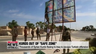 Thousands of Syrian Kurds fleeing to Iraq to escape Turkish offensive