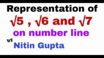 Representation of square root 5 on number line | Representation of square root 6 on number line | Representation of square root 7 on number line | Number system | Class 9th Maths