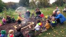 Mud, Hens & Sitting Around The Fire at The Barn Forest School!