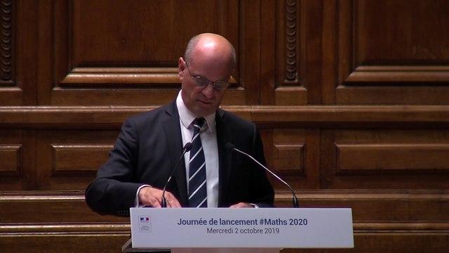 Allocution d'ouverture officielle de l'Année des mathématiques de Jean-Michel Blanquer, ministre de l'éducation nationale et de la jeunesse