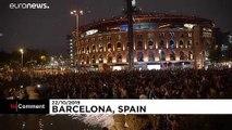 """Catalogna, i separatisti """"ripuliscono"""" le fontane di Barcellona"""