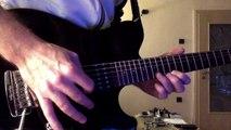 Blues-rock guitar lick practice - Horn made pick, Huges & Kettner Tube Meister 36 amp, Music Man Axis Sport guitar