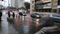 Marseille : la chaussée est inondée dans le secteur du rond-point du Prado