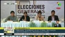 Temas del Día: Bolivia: Declaraciones del Tribual Supremo Electoral