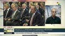 Rusia y Turquía acuerdan medidas para normalizar situación en Siria