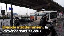 Épisode méditerranéen : plusieurs routes inondées en Provence