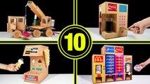 TOP 10 Amazing Things You Can Do at Home from Cardboard Coca cola pepsi