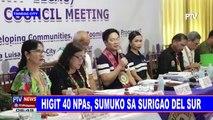 Higit 40 NPAs, sumuko sa Surigao del Sur