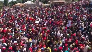 Marche contre un 3eme mandat d Alpha Conde en Guin