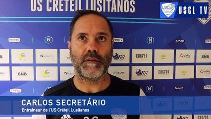 6e tour CDF Noisy le Sec-USCL : l'interview d'avant-match de Carlos Secretário