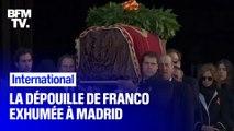 La dépouille du dictateur Franco a été exhumée ce jeudi à Madrid