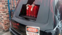 First look at grandad's Halloween hearse of horrors