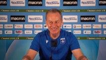 La conférence de presse de Jean-Marc Furlan avant AJA-Grenoble