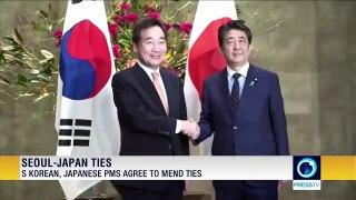 South Korea, Japanese PMs agree to mend ties