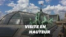 Les images féeriques du Grand Palais vu du ciel