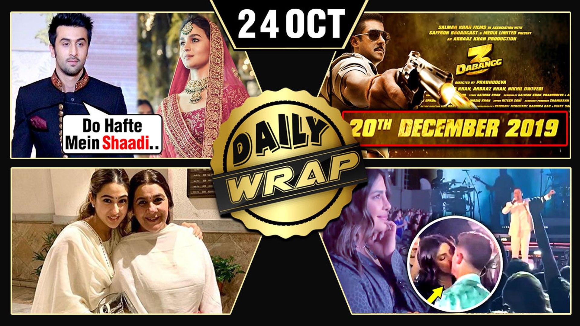 Ranbir Alia's France Wedding, Priyanka Nick PDA, Sara Ali Khan Diwali 2019 | Top 10 News