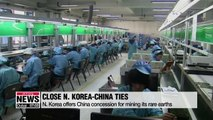 N. Korea offers China concession for mining its rare earths