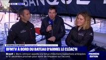 BFMTV a rencontré les skippers Armel le Cléac'h et Clarisse Crémer avant le départ de la Transat Jacques Vabre ce dimanche