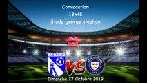 Composition de l'équipe premiere pour le 27 Octobre 2019 contre Heimsbrunn coup d'envoi 15H00 venez nombreux⚽️