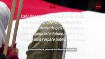 Voile dans l'espace public : « pas mon affaire », déclare Macron