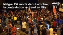 """Irak: la contestation reprend et réclame """"la chute du régime"""""""