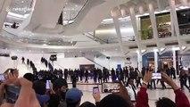 Kanye West's choir arrive for Jimmy Kimmel rehearsal in New York