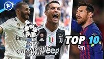 Le Top 10 des meilleurs buteurs de l'histoire de la Ligue des champions