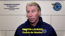 Hockey sur glace Interview Martin Lacroix Coach des Corsaires de Nantes (Clermont_VS_Nantes) 2019-10-19)
