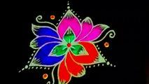 #Spot Tube    Simple Rangoli Design with Beautiful Colours & Dots 7x4 For Beginners _ Easy Kolam    सुंदर रंग और डॉट्स के साथ सरल रंगोली डिजाइन शुरुआती के लिए 7x4 _ आसान कोलाम