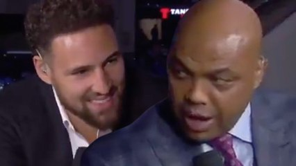 Charles Barkley Gets In Klay Thompson's Face & TRASHES The Golden State Warriors!