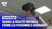 Dans certaines écoles de soins infirmiers, les élèves sont formés avec... des casques de réalité virtuelle